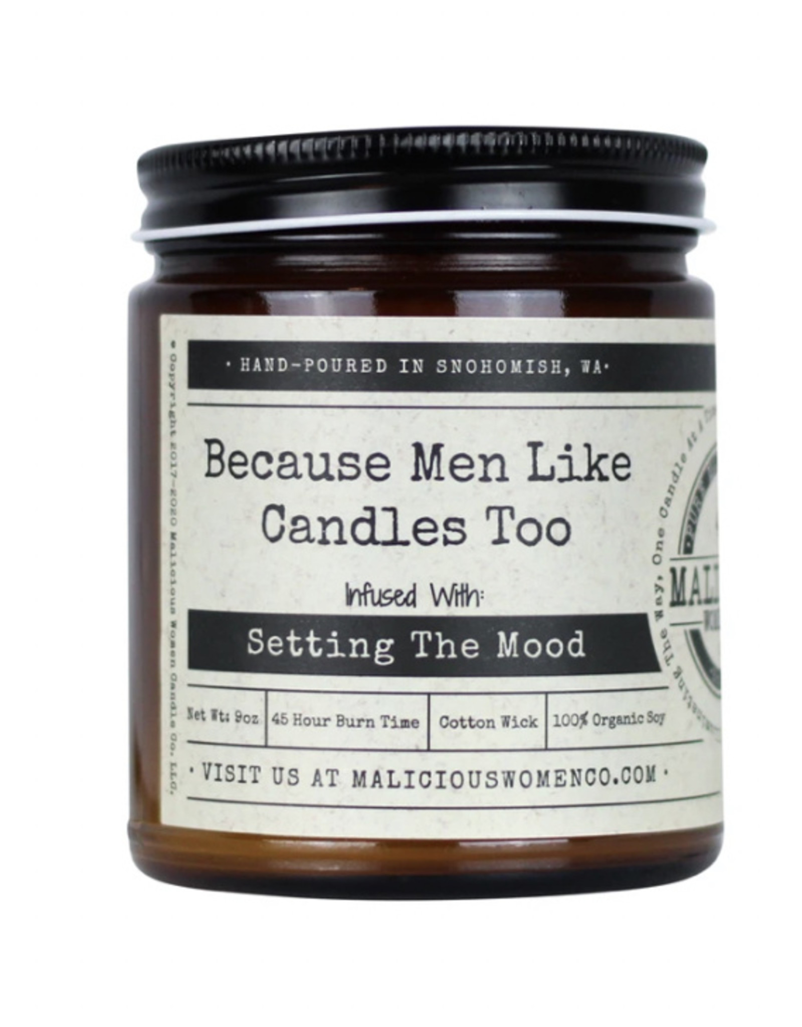Malicious Women Candle Co. Because Men Like Candles Too Candle