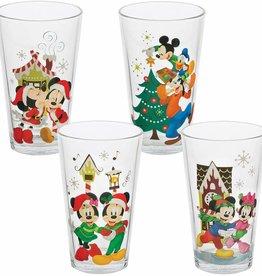 Mickey & Minnie Holiday Glasses