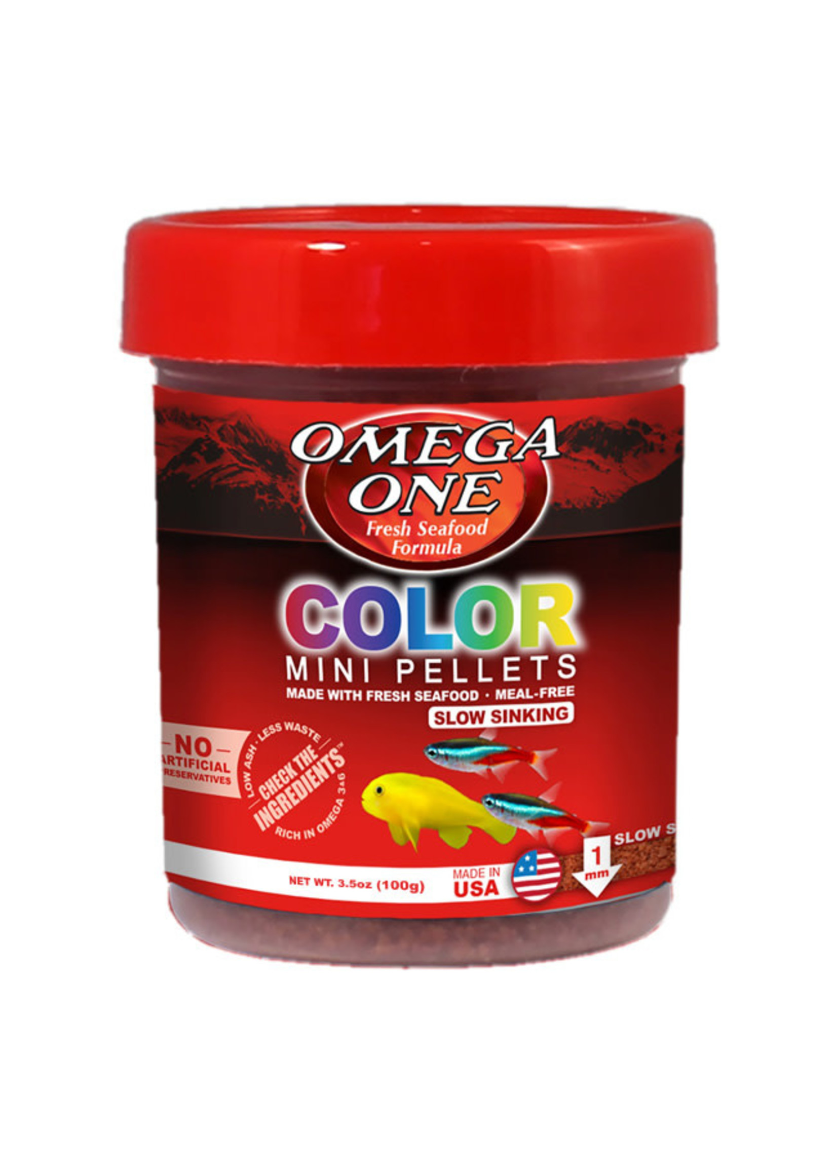 Omega One Omega One Color Sinking Mini Pellets
