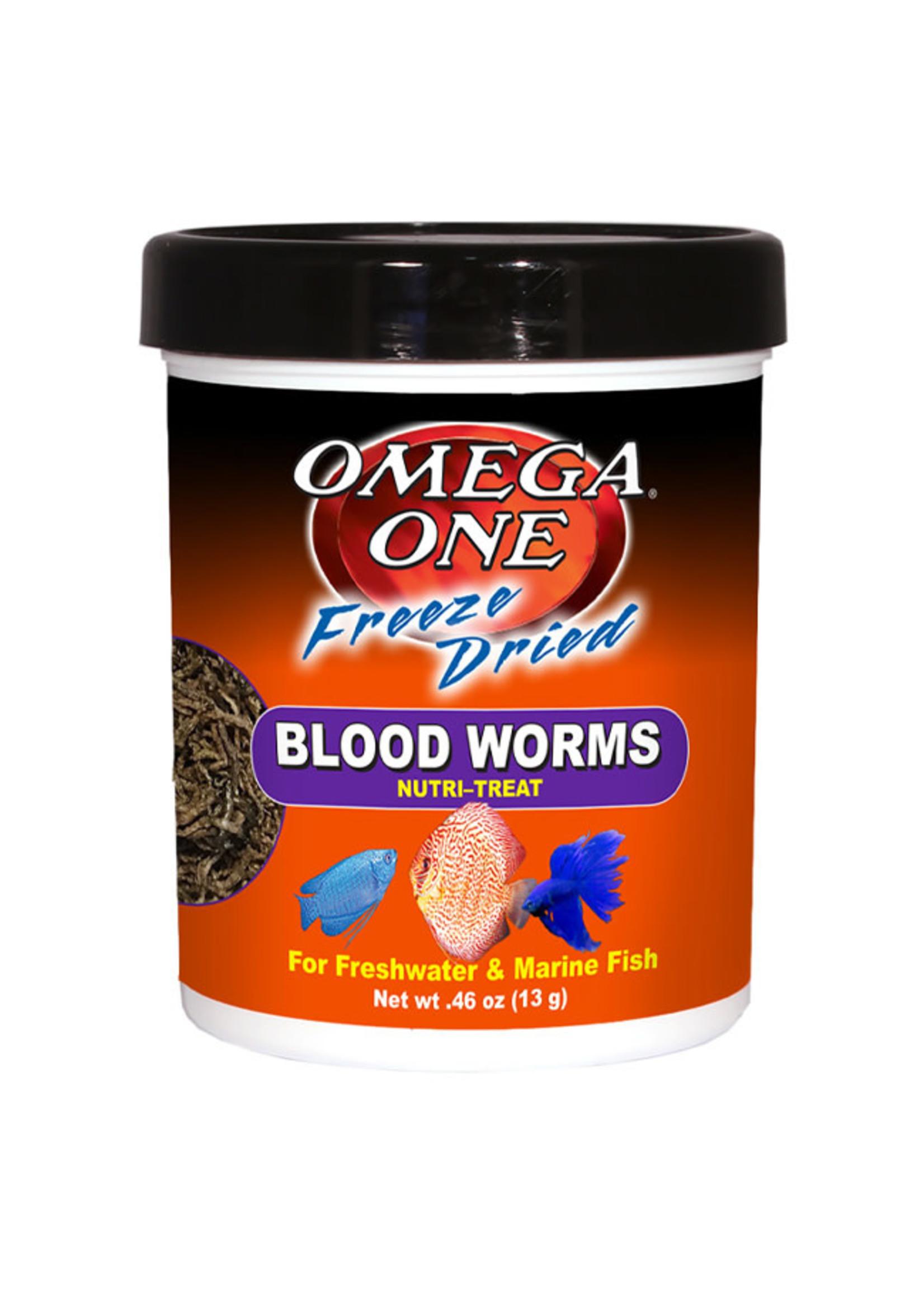 Omega One Omega One Freeze Dried Blood Worms Nutri-Treat