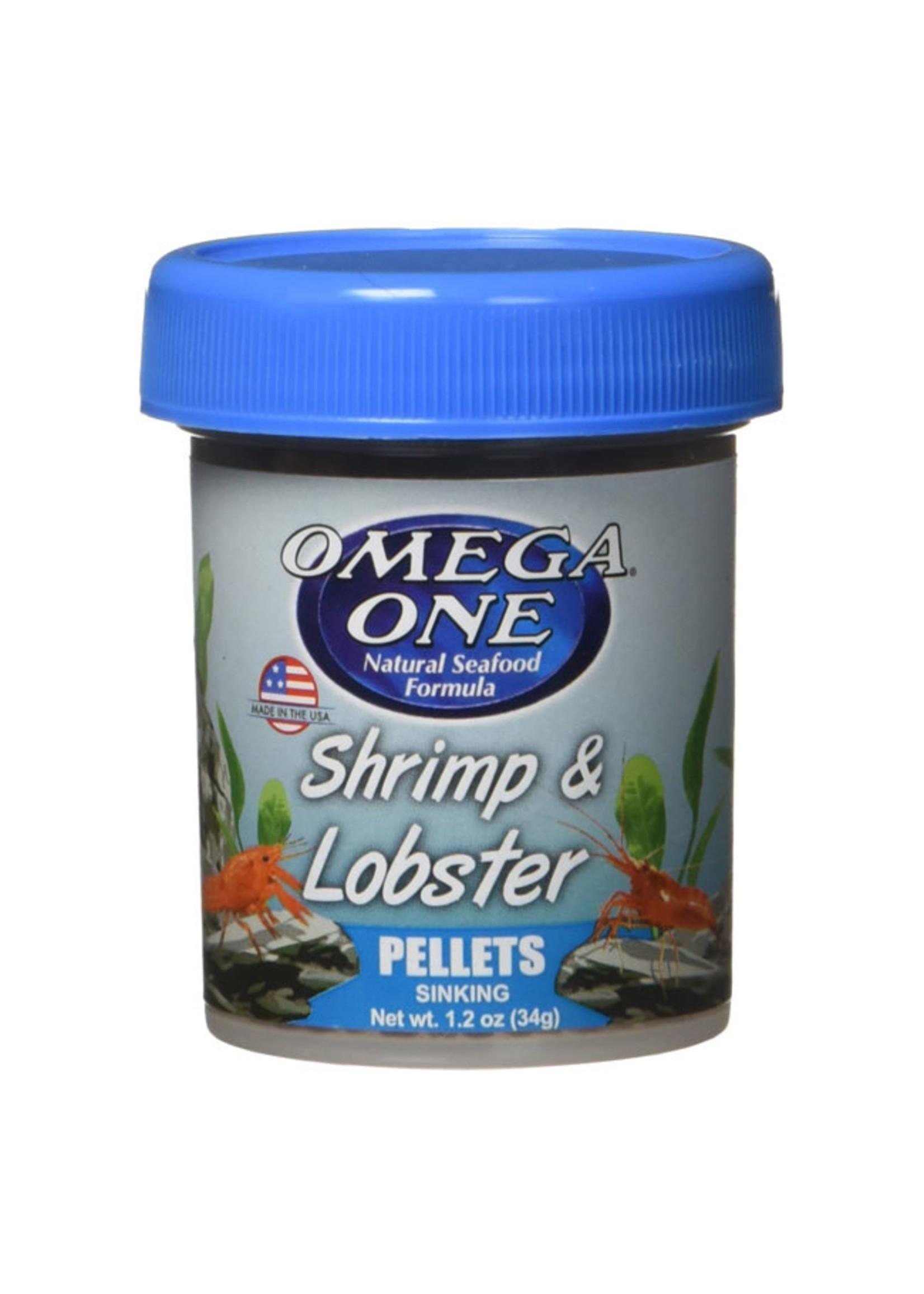 Omega One Omega One Shrimp & Lobster Sinking Pellets 34g / 1.2oz