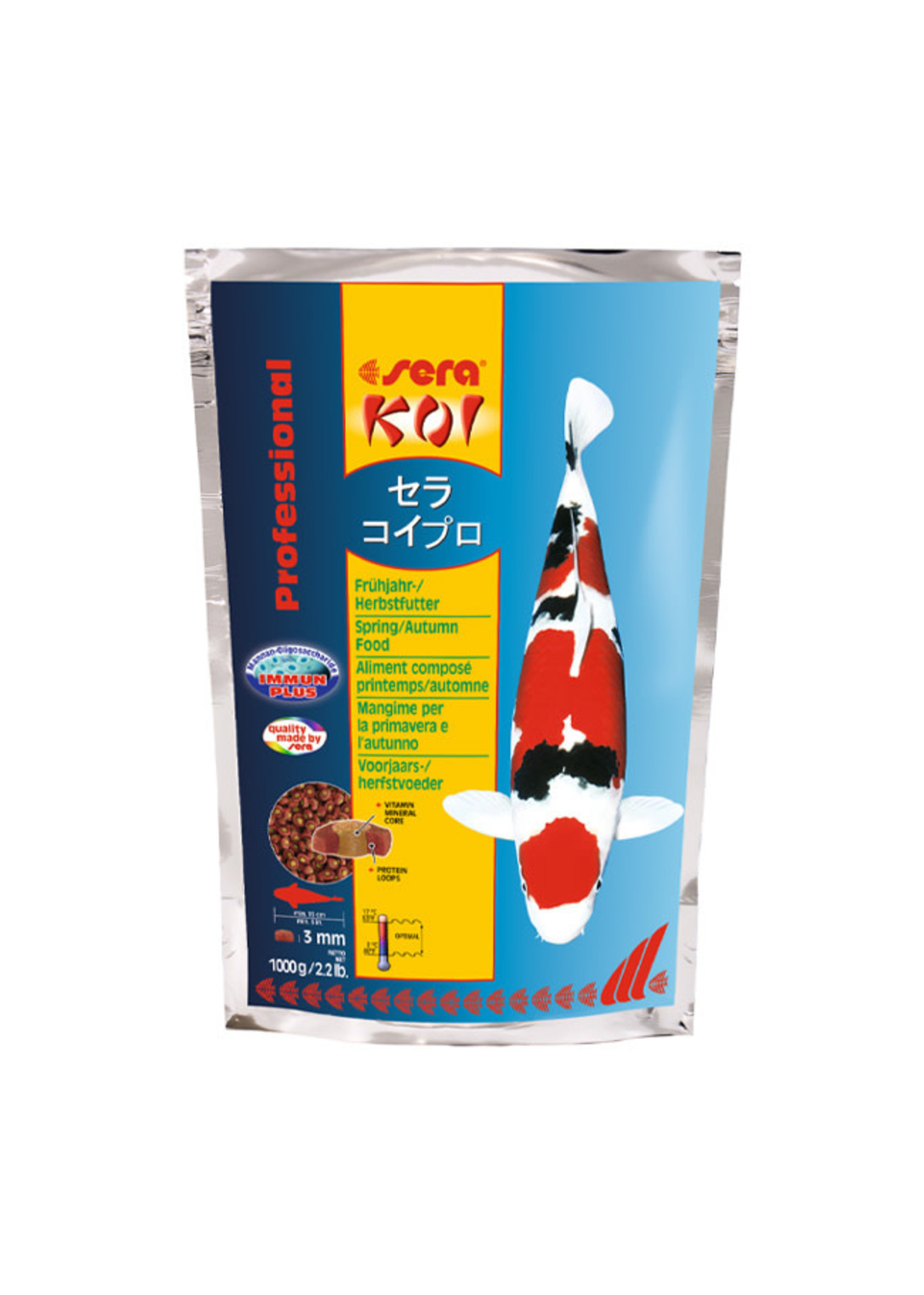 sera sera Koi Professional Spring / Autumn Food 1000g / 2.2lb