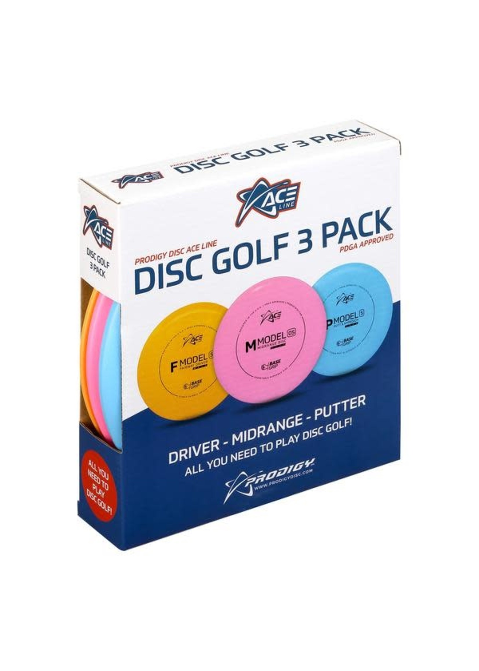 Prodigy Prodigy Ace Disc Golf Starter Pack (3 Discs)