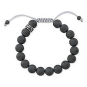 Room 101 Room 101 Bead Bracelet Satin Hematite Shamballa