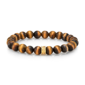 Room 101 Room 101 Bead Bracelet 8mm Tiger's Eye with Sterling Silver
