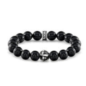 Room 101 Room 101 Bead Bracelet Polished Agate Cross