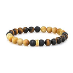 Room 101 Room 101 Bead Bracelet 8mm Tiger Eye & Smooth Agate