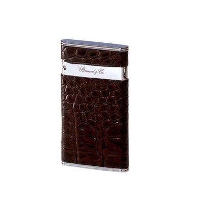 Brizard & Co. Brizard & Co. Sottile Lighter Croco Tobacco