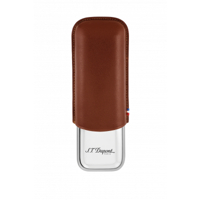 S.T Dupont S.T. Dupont Double Cigar Case Brown