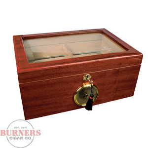 Savoy Savoy Humidor Mahogany Glass Top- Large