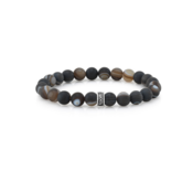 Room 101 Room 101 Bead Bracelet 8mm Frosted Agate with Logo