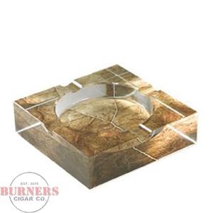 Xikar Crystal Ashtray - Tobacco Leaf
