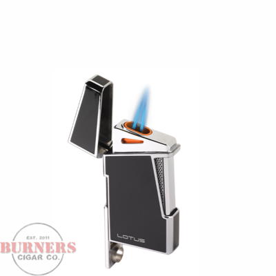 Lotus Lotus Apollo Twin Pinpoint Torch Flame Lighter Blue Lacquer