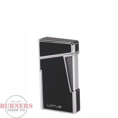 Lotus Lotus Apollo Twin Pinpoint Torch Flame Lighter Black Lacquer