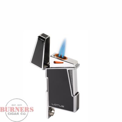 Lotus Lotus Apollo Twin Pinpoint Torch Flame Lighter Chrome Satin