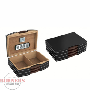 Carlton Black & Steel Humidor (100 count)