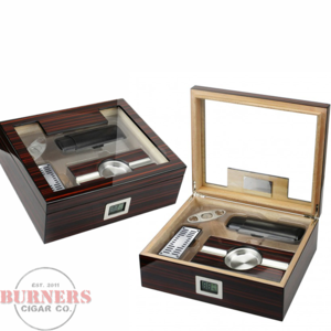 Kensington Dark Cherry Humidor (75 count) Gift Set