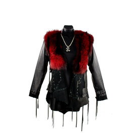 A. Tsagas Black w/ Red fox Princess Hooded Jacket
