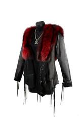 A. Tsagas Black w/ Red fox Princess Hooded Jacket