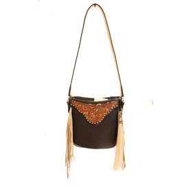 Boedeker Leather Black Lthr Cross Body, Fringe