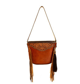 Boedeker Leather Cognac Lthr/Fringe, Filigree Strap