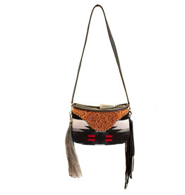 Boedeker Leather La Senorita Clutch with fringe and shoulder strap