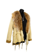 A. Tsagas Deerskin with Bleached Racoon Jacket