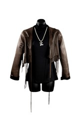 A. Tsagas Brown Deerskin Short Jacket