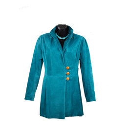 Char Designs, Inc. Rosalie Leather Jacket Teal