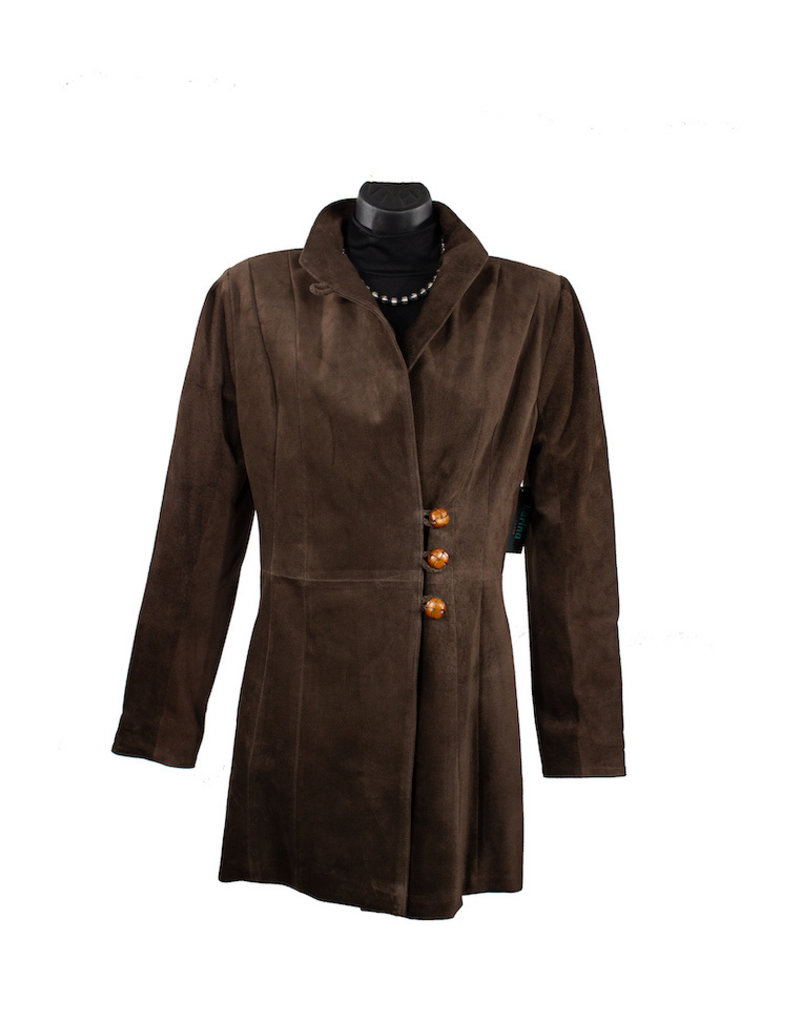 Char Designs, Inc. Rosalie Leather Jacket Espresso