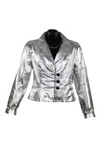 Char Designs, Inc. Geneva Metallic Jacket Silver