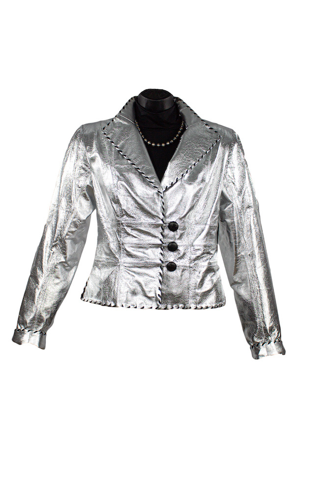 Char Designs, Inc. Geneva Metallic Jacket Silver