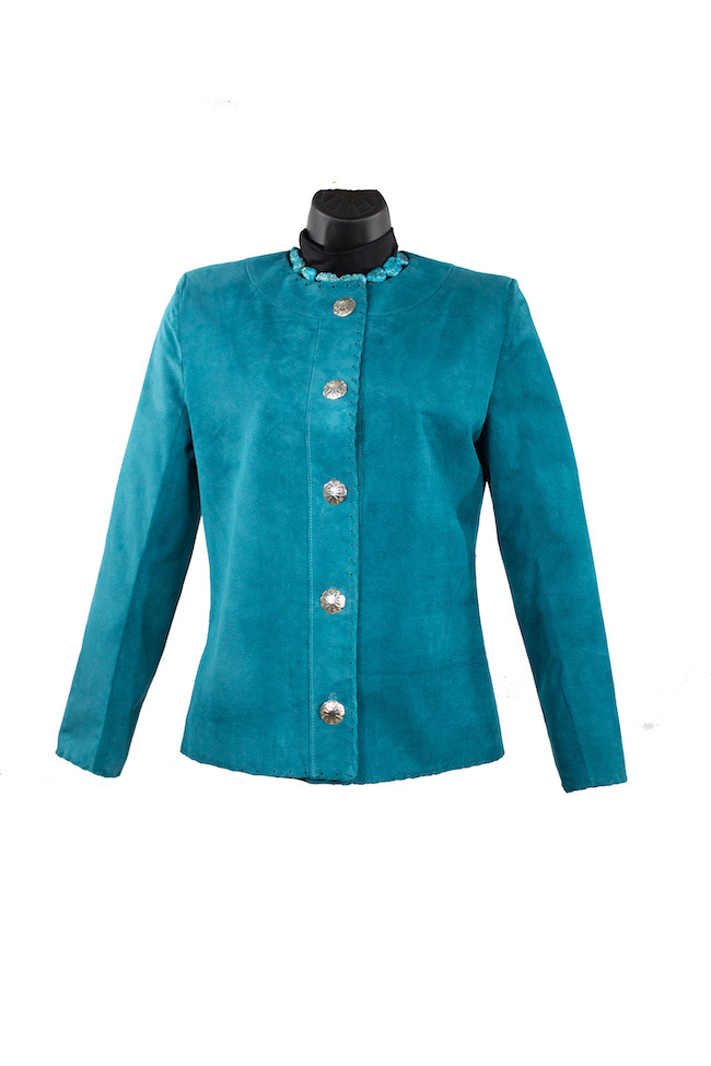 Char Designs, Inc. CoCo Leather Jacket Teal