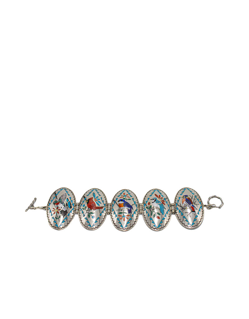SW Zuni, Quam Family Inlaid Bracelet