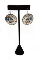 Zuni, Quam Family Inlaid Earrings