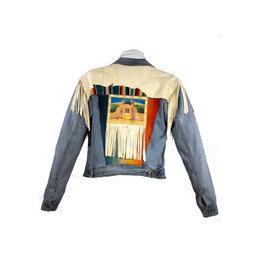 Char Designs, Inc. JJ Ranchos de Taos/Vintage Sarape, Fringe/Pntd Back S