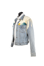 Char Designs, Inc. JJ Ranchos de Taos, Vintage Sarape, Fringe & Pntd Back S
