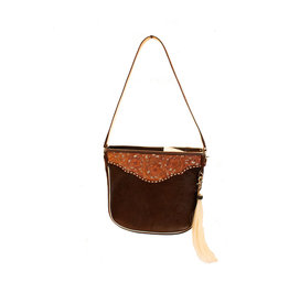 Boedeker Leather La Vaquera Tote No Fringe Dark Brown w/ filegree