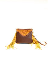 Boedeker Leather Wristlet, solid leather, with fringe
