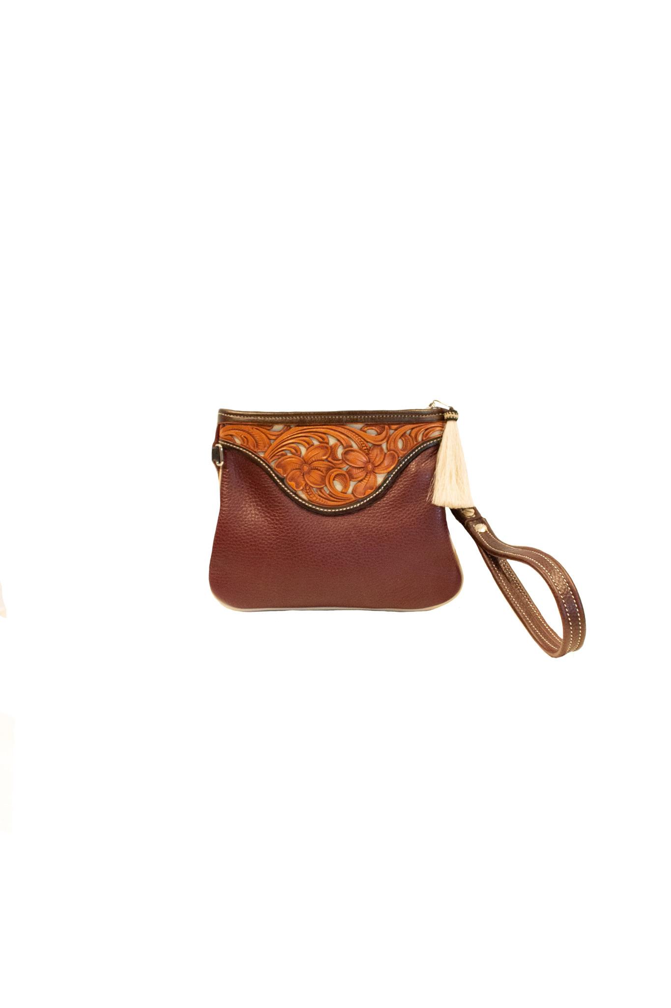 Boedeker Leather Purple Wristlet, Shldr Strap