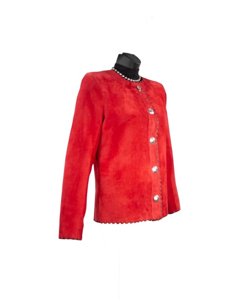 Char Designs, Inc. CoCo Leather Jacket Red size 14