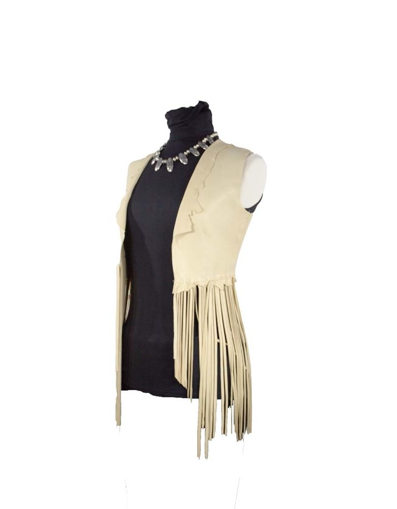 A. Tsagas Tan Long Fringe Vest