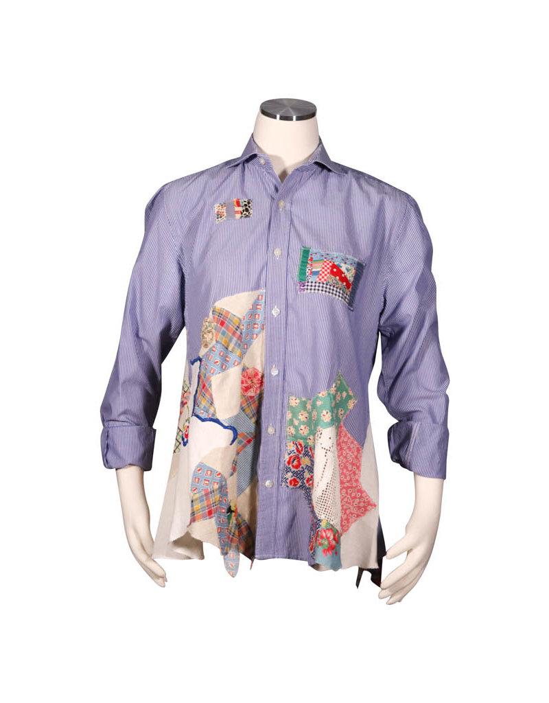 Char Designs, Inc. EJ shirt lace 1689 blue strip