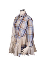 Char Designs, Inc. EJ shirt lace  1671 blue & brown plaid