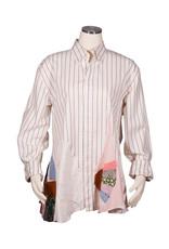 Char Designs, Inc. EJ shirt lace 1685 versace stripe  L/XL