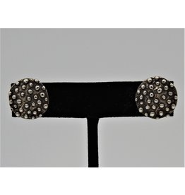 Pam Springall PS-E65C Sterling Silver Dotted Round Post Earrings