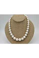 Pam Springall PS-N11C Fat Semi Baroque Wht Rnd Pearls