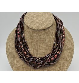 Pam Springall PS-N26C 9 Strnd Copper Pearls