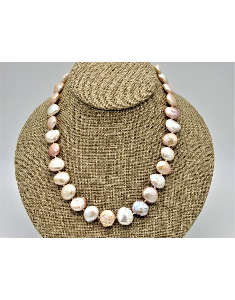 Pam Springall PS-N28C Cream Coin Pearls