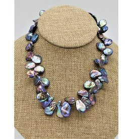 Pam Springall PS-N6C Purple, Silver, & Blue Keshi Pearls